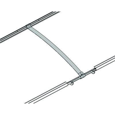 Összekötő- bővítő elem Aquila előtetőhöz, ezüst