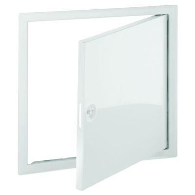 Revíziós ajtó  fehér, acél 400x400 mm