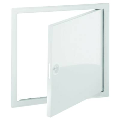 Revíziós ajtó  fehér, acél 300x300 mm