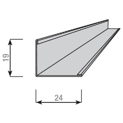 AMF Ventatec Falszegély 19/24 3000 mm