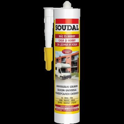 SOUDAL universalis szilikon 300 ml  fehér