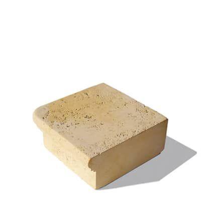 Semmelrock Travero sarok lépcsőelem homokkő (35x35x15cm)