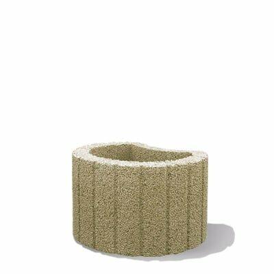 Semmelrock mini növényedény világos beige magasság:20 cm, átmérő: 30 cm