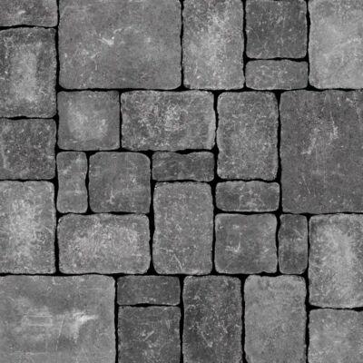 Semmelrock Castello Antico kombi szürke-fekete (12,5x6,2, 12,5x12,5, 18,7x12,5, 25x18,7)x6cm