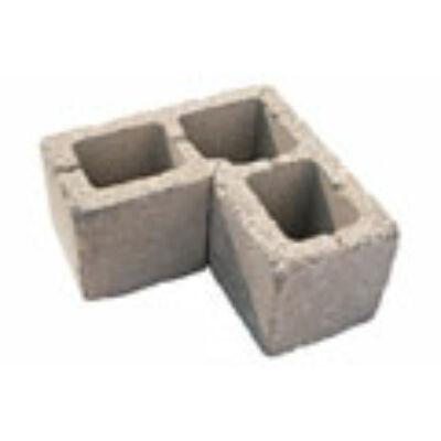 Leier Antik kerítés sarokelem (40x20x20) füstantracit melírozott